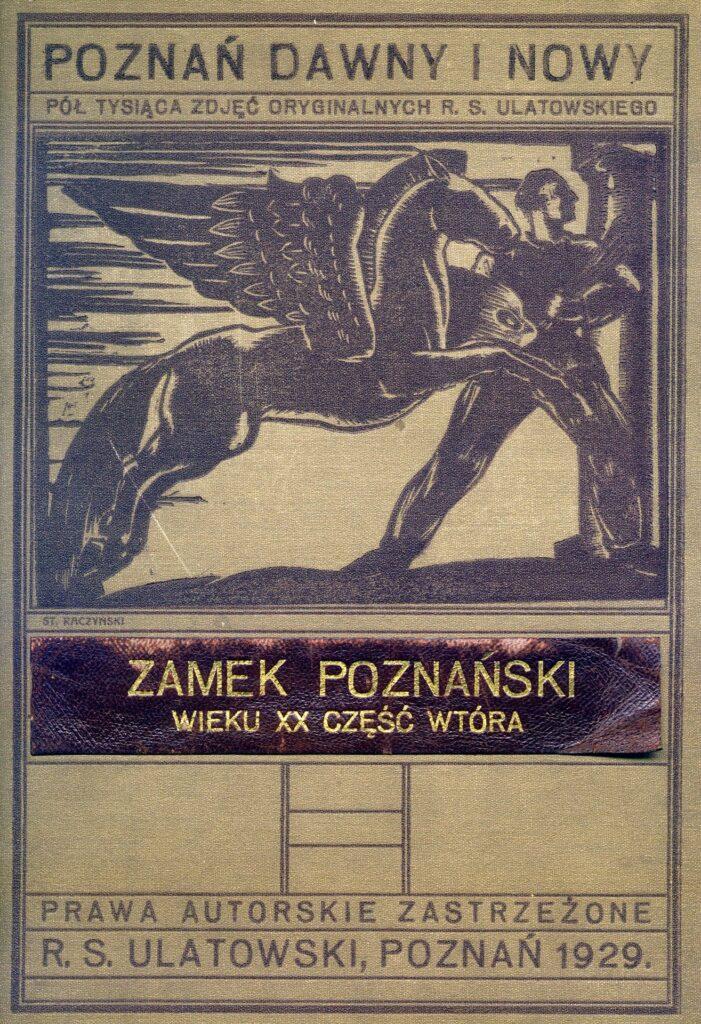 Zdjęcie przedstawia okładkę teki ze zdjęciami Romana Stefana Ulatowskiego (1881–1959), znanego poznańskiego fotografa. Górną część okładki zajmuje grafika przedstawiająca pegaza z kroczącym mężczyzną. Zwróceni są w prawo. Postać trzyma paletę i pędzle. Jest to więc przedstawienie artysty i jego źródła inspiracji, natchnienia.