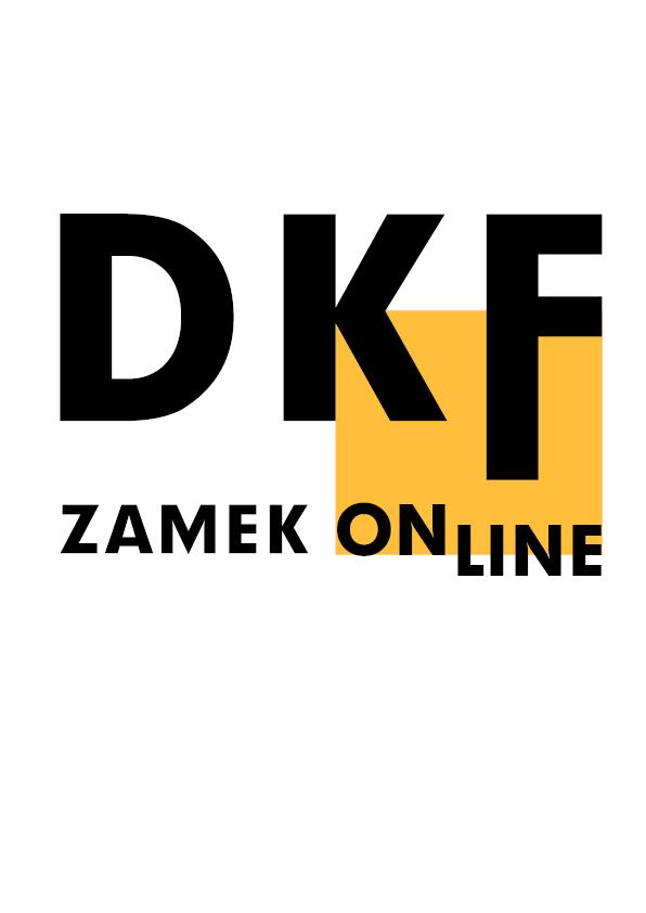 Logotyp DKF-u Zamek, który w czasie pandemii organizowany był online.